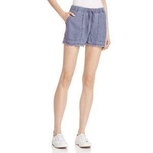 Bella Dahl Oxford Shorts Frayed Hem